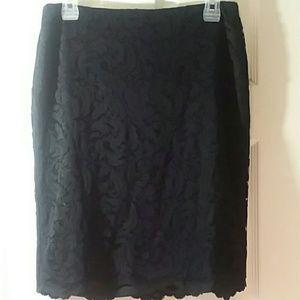 EUC Cache Black Lace Skirt Size 8